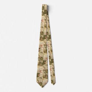 Beautiful tie with vintage Trellis design