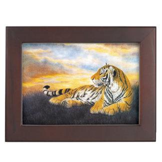 Beautiful Tiger big cat resting chinese painting Memory Box