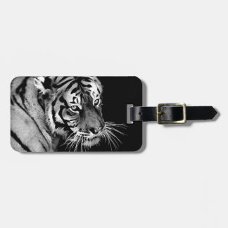 Beautiful Tiger Black White Africa Bag Tag