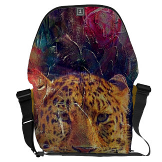 Beautiful Tiger Bright Color Grunge Courier Bag