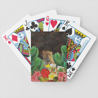 Beautiful Tiger Cactus Floral Oil Painting Bicycle Playing Cards