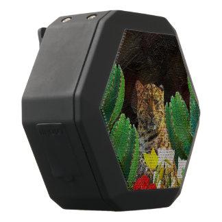 Beautiful Tiger Cactus Floral Oil Painting Black Bluetooth Speaker