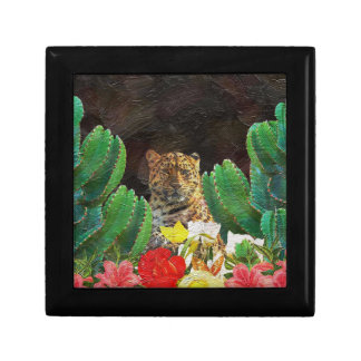 Beautiful Tiger Cactus Floral Oil Painting Gift Box
