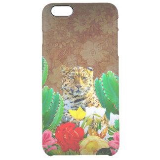 Beautiful Tiger Cactus Floral Scene Clear iPhone 6 Plus Case