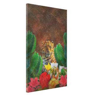 Beautiful Tiger Cactus Flowers Canvas Print