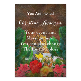 Beautiful Tiger Cactus Flowers Card