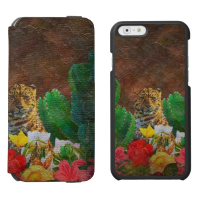 Beautiful Tiger Cactus Flowers iPhone 6/6S Wallet Case