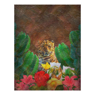 Beautiful Tiger Cactus Flowers Letterhead