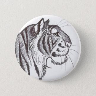 Beautiful Tiger drawing button badge