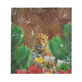 Beautiful Tiger Floral Palette Oil Notepad