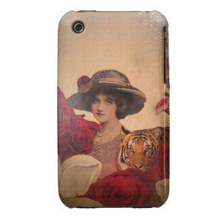 Beautiful Tiger Flowers Woman Case-Mate iPhone 3 Case
