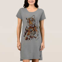 Beautiful tigers, big cats dress