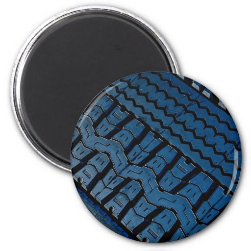Beautiful Tire tread pattern 2 Inch Round Magnet