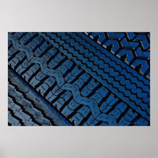 Beautiful Tire tread pattern Poster