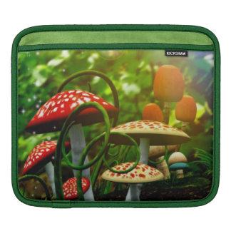Beautiful toadstool garden iPad sleeve