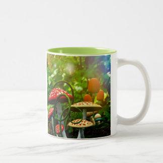 Beautiful toadstool garden mug