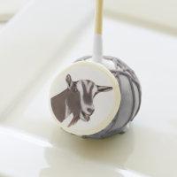 Beautiful Toggenburg Goat Doe portrait Cake Pops