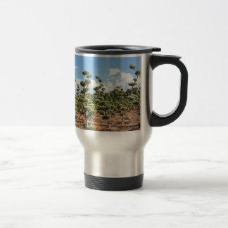 Beautiful topiary shapes in conifers travel mug