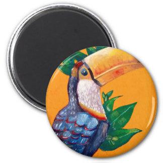 Beautiful Toucan Bird Painting Magnet