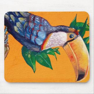 Beautiful Toucan Bird Painting Mouse Pad