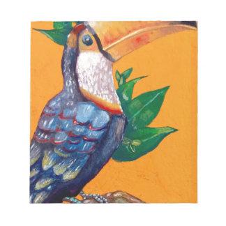 Beautiful Toucan Bird Painting Notepad