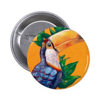Beautiful Toucan Bird Painting Pinback Button