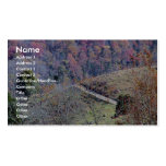 Beautiful Track On The Mountains Full Of Orange An Business Card Template
