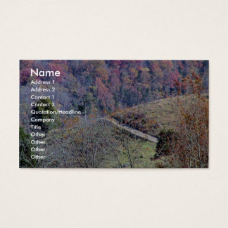 Beautiful Track On The Mountains Full Of Orange An Business Card