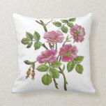 Beautiful Traditional Jacobean Crewel Embroidery Throw Pillow