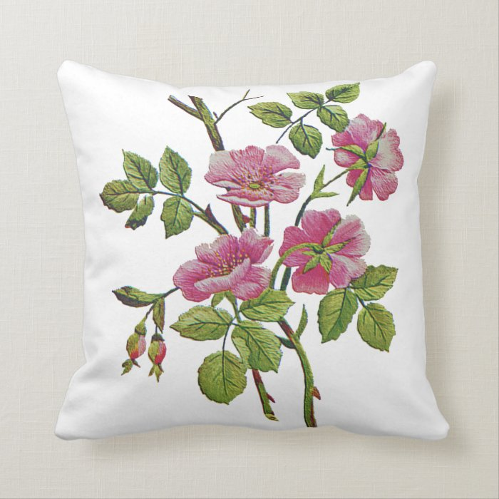 Jacobean Throw Pillows : Beautiful Traditional Jacobean Crewel Embroidery Throw Pillow Zazzle