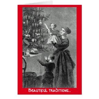 Beautiful traditions Christmas Tree greeting card