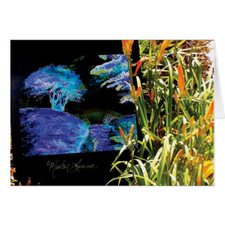 Beautiful Tree Blue and Garden Card