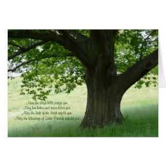 Beautiful Tree in Countryside-Irish Blessing Card