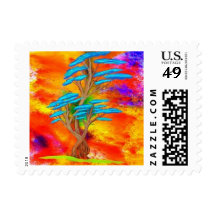 Beautiful Tree Postage Stamp