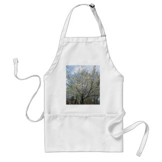 Beautiful tree with full of white flowers adult apron