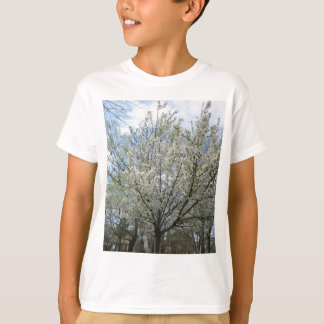 Beautiful tree with full of white flowers T-Shirt