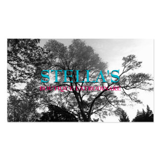 Beautiful Trees B&W Photography Business Cards