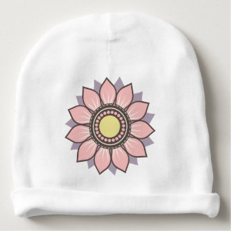 Beautiful Trendy Floral Design Baby Beanie