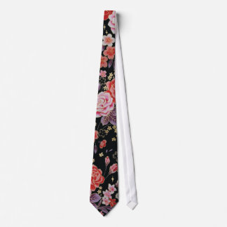 Beautiful trendy girly Japanese floral pattern Tie