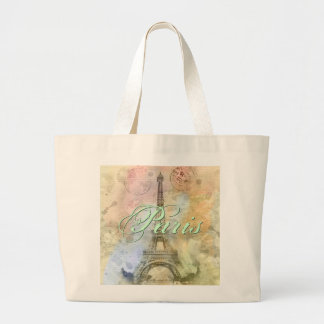 Beautiful trendy girly vintage Eiffel Tower France Bags