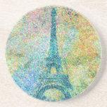 Beautiful trendy girly vintage Eiffel Tower France Beverage Coasters
