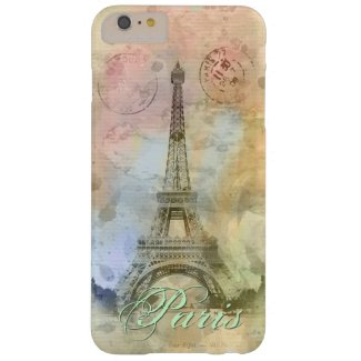 Beautiful trendy girly vintage Eiffel Tower France Barely There iPhone 6 Plus Case