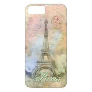 Beautiful trendy girly vintage Eiffel Tower France iPhone 8 Plus/7 Plus Case