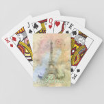 "Beautiful trendy girly vintage Eiffel Tower France Playing Cards<br><div class=""desc"">Beautiful trendy girly vintage Eiffel Tower France soft pastel colours,  watercolours splatters antique effects,  green,  blue,  pink,  white,  grey,  purple soft colours. Paris,  French,  Love,  romantic,  city,  amazing old structure,  grunge,  distressed,  dreams. Personalise your name or favourite words,  or delete the words for image only,  image print.</div>"