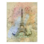 Beautiful trendy girly vintage Eiffel Tower France Print