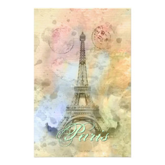 Beautiful trendy girly vintage Eiffel Tower France Stationery
