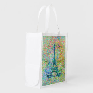 Beautiful trendy girly vintage Eiffel Tower Market Totes