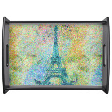 Beautiful trendy girly vintage Eiffel Tower Serving Tray
