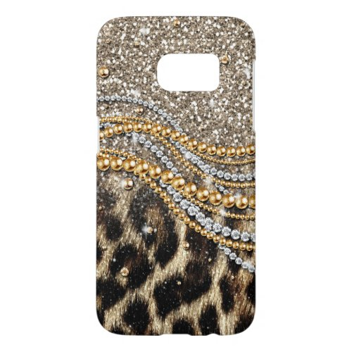 Beautiful trendy leopard faux animal print Phone Case