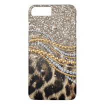 Beautiful trendy leopard faux animal print iPhone 8 plus/7 plus case